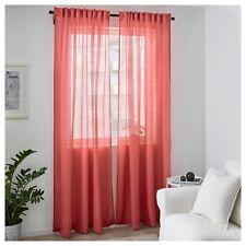 "IKEA New LEJONGAP Curtains 304.140.70 ,2 Panels (2pack) Pink 100% Linen 57""x 98"""