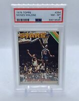 1975 Topps Basketball Moses Malone ROOKIE RC #254 PSA 8 NM-MT Newly Graded