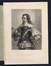 Wallenstein's Max Piccolomini - Schiller's Play  -1883 Steel Engraving