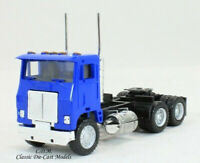 White Road Commander Blue Tandem Axle Day Cab HO 1/87 Scale Promotex 25237-BU