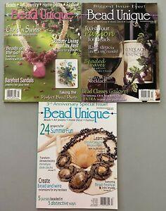 Lot of 3 Bead Unique Magazines