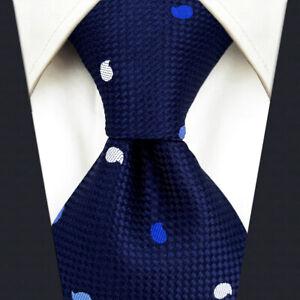 S&W SHLAX&WING Ties for Men Blue Navy Necktie Set Paisley
