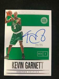KEVIN GARNETT * 2019-20 Panini Encased Endorsements AUTO /25