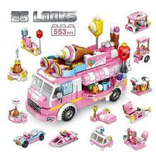 PANLOS STEM Educational Learning Building Bricks Toy 553 Pieces Ice Cream Car Se