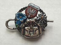 Vintage German Frankfurt Enamel Metal Pin Souvenir Brooch