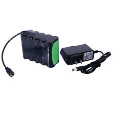 New 18650 8.4V 12000mAh Rechargeable Battery 10X Pack +US Charger For LED Light