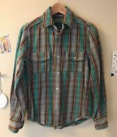 Nigel Cabourn Authentic Reversible Heavy Flannel Shirt 8020010103 Size 42 Used