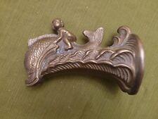 Vintage Artistic Brass Antique Fish Coi Dolphin Tub Bathtub Faucet Spigot