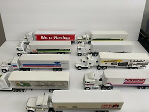 LOT 9 diecast Semi Truck COLLECTION dealer advertising farm tractor trailer toy
