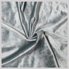 5 yards Velvet Fabric 58 inches wide sold bty for upholstery & drapery Silver