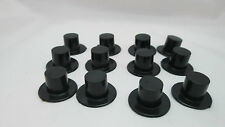 144 Mini Black Plastic Top Hat Snowman Wedding Shower Party Favor Doll 24x15mm