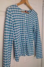 Roxy Women's Large Long Sleeve Blue Girls White Top Surf Store Large New Beach