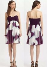 $498NWT Diane Von Furstenberg purple strapless Asti Short Dress Sz. 12