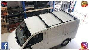 Set of 3 Heavy Duty Matte Black Roof Racks Suitable LDV V80 VAN 2013-2020