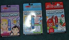 New Melissa And Doug Water Wow Lot 2 Lot of 3 Colors Shape Connect Dots Makeup