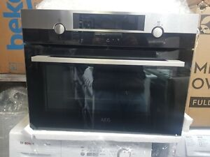 New Unboxed AEG KMK561000M Built In Combination Microwave Compact Oven