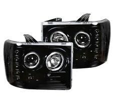 RECON 264271BK - 07-13 GMC Sierra; Projector Headlights; LED Halos; Smoked