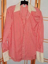 Doblin Vintage Sanforized Red Striped Rockabilly Shirt 16 Style 4604 New Canaan