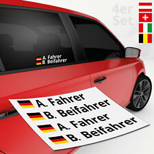 Autoaufkleber Name + Flagge Rally 4er | DTM | Motorsport | TOP Aufkleber Sticker