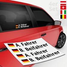 Autoaufkleber Name + Flagge Rally 4er | DTM | Motorsport | TOP Aufkleber Sticker