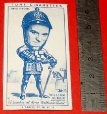 CINEMA 1949 TURF CIGARETTES CARD FILM STARS 11 WILLIAM BENDIX A YANKEE AT KING
