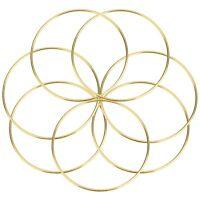 """10 x 5"""" Brass Coated Metal Dreamcatcher/Macrame Craft Hoop/Ring"""