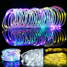 Solar Power 12M LED String Rope Fairy Light Xmas Fence Garden Party Outdoor Lamp