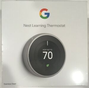 NEST T3007ES 3RD GENERATION STAINLESS STEEL THERMOSTAT BRAND NEW SEALED BOX