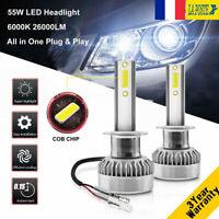 110W 26000LM H1 LED Ampoule Voiture Feux Lampe Kit Phare Remplace Xenon 6000K