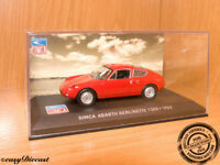 SIMCA ABARTH BERLINETTE 1300 RED 1:43 1962 MINT!!!