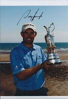 PADRAIG HARRINGTON SIGNED Autograph 11x8 Photo AFTAL COA with Open Golf Trophy