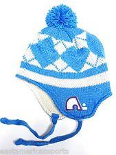 Quebec Nordiques NHL CCM Vintage Pom Ball Knit Hat Cap Trooper Winter Beanie
