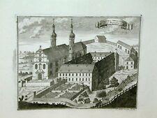 Uttenweiler Biberach Augustiner Kloster Kirche Kupferstich Steidlin 1731