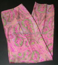 NWT RALPH LAUREN Black Label 8 silk paisley pants slacks crop capris $758 pink