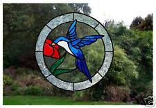 Window Art  Hummingbird Stained glass effct cling