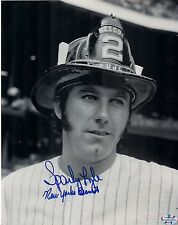 Sparky Lyle New York Yankess signed autographed 8x10 FDNY Bravest