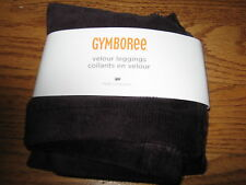 GYMBOREE NWT GIRLS 6-12 MONTHS PUPS AND KISSES DARK PURPLE VELOUR LEGGINGS