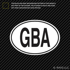 GBA Alderney Country Code Oval Sticker Decal Self Adhesive Alderney euro