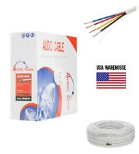 16AWG Speaker Cable 500ft CL2 In Wall 16/4 Gauge 4 Conductor Bulk Audio Wire New