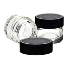 10 x Small Glass Jar Set - travel packaging cosmetic makeup lip balms creams oil