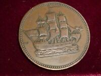 PE-10-23 SHIPS AND COLONIES TOKEN ,PRINCE EDWARD ISLAND ,CANADA