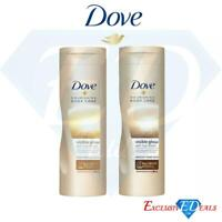Dove Visible Glow Self-Tan Lotion Prevent Moisture Loss Nourish Layers 250ml