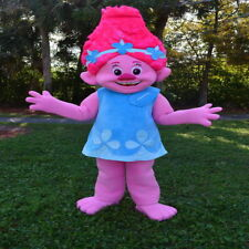 Poopy Princess From Trolls Mascot Costume Halloween Party Character Birthday