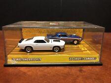 Hot Wheels Motown Metal 40th 70 Mustang Boss 429 & 69 Camaro Missing Box EM2934