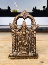 Antique Old Brass South Indian Hindu Lord Ritual Tirupati Balaji Sculpture
