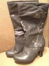 "Women's Boots by A.N.A. Sz 6M in gray High 3"" heels"