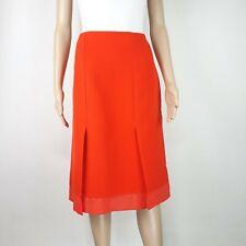 Fendi Womens Red Cotton High Waist Pencil Skirt UK 12 IT 44 Casual Smart