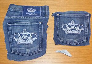 2 poches LOGO couronne england SYMBOLE Victoria Beckham lady jean's pocket SIGN