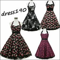 dress190 Floral 50's Rockabilly Cocktail Evening/ Wedding Party Prom Ball Dress