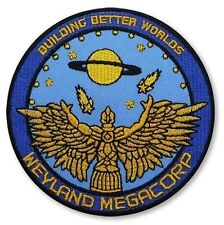 """Velc. Aliens Weyland MegaCorp Building Badge Embroidered Patch 10cm 4"""""""